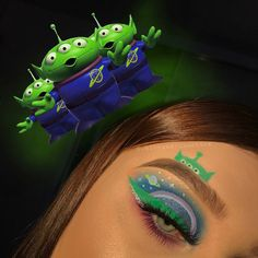 SPRINGTIME 🌷 I created this look for a takeover on the story which is coming soon so keep your eyes open for that… Disney Eye Makeup, Alien Makeup, Devil Makeup, Halloween Makeup Games, Halloween Ideas, Toy Story, Cute Makeup Looks, Plouise Makeup Academy, Face Paint Makeup