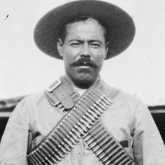 Few men are as legendary in Latin American History as Pancho Villa. Bandit, general, warlord, hero and murderer, Villa is a complicated and fascinating historical figure and one of the giants of the Mexican Revolution. Pancho Villa, Famous Mexican, Mexican Art, Mexican Heroes, Villa Y Zapata, Famous Mustaches, Mexican Revolution, Old West, Revolutionaries