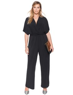 Twist Front Jumpsuit | Women's Plus Size Dresses | ELOQUII