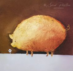 Golden Pig by Sara Paxton Artworks.  Another one to add to the golden animal family.     Facebook: http://www.facebook.com/sarapaxtonartworks