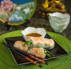 Vietnamese Summer Rolls.  Add chicken, shrimp or pork!  Perfect for a snack or light lunch.