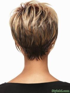 Hair Beauty - Women Blonde Ombre Inclined Bang Fluffy Short Straight European American Synthetic Wig - One Size Short Hairstyles For Women, Hairstyles Haircuts, Wedge Hairstyles, Stacked Hairstyles, Medium Thin Hairstyles, Short Hair Cuts For Women With Bangs, Hairstyles For Fine Thin Hair, Tapered Hairstyles, Glasses Hairstyles