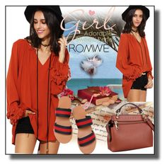 """""""//Romwe(summer style)set 6.//"""" by fahirade ❤ liked on Polyvore featuring WithChic"""
