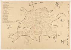 Nam June Paik Fluxus Island in Décollage Ocean- 1963 Laminated screen printing on paper, on cardboard 57.00 cm x 40.00 cm