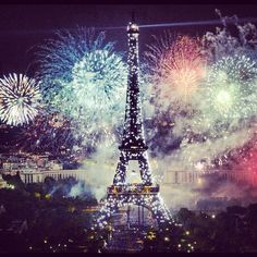 Fireworks in Paris.