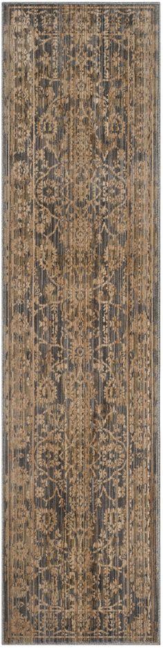 Infinity Oriental Brown/Grey Area Rug
