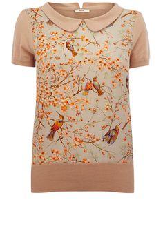 Agh it's too good. Perfect bird print top.