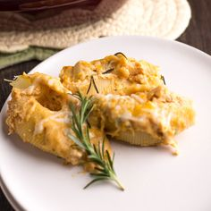 Roasted Acorn Squash Stuffed Shells is a perfect in season meal for a ...