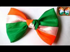 YouTube Diy tricolor bow/bow making/Indian tricolor bow /bow /ribbon bow clip/bow hair clip/independence day special Bow Hair Clips, Hair Bows, Bow Clip, Easy Crafts For Kids, Toddler Crafts, Ribbon Crafts, Ribbon Bows, Indian Diy, Bow Making Tutorials