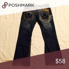 Blac label jeans MENS size 32x30 100% cotton premium denim goods size 32 x30 raveled  legs Blac label Jeans Boot Cut