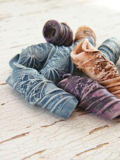 DIY pressed flower beads