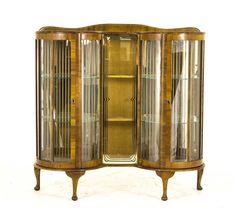 Antique welsh dresser solid oak sideboard scotland 1900s antique curio cabinet art deco cabinet walnut double door curved glass b797 planetlyrics Gallery