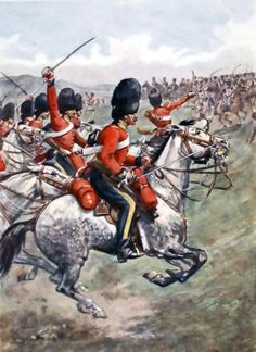 The charge of the Heavy Brigade at the battle of Balaclava.