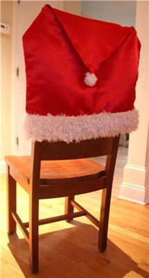 Ho Holiday Chair Cover I Have To Make These For The Dining Room Chairs Christmas