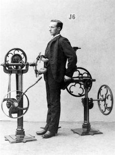 """""""The Dithyrambler expels the weak humours by pummeling your spine and trunk with intense beatings.""""    Vintage Exercise Machines"""