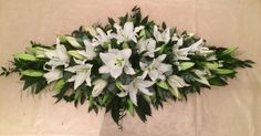 Premium Oriental Lily Coffin Double ended Spray - funeral tribute