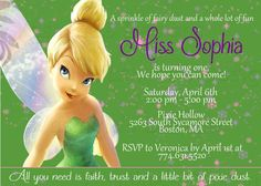 Free Tinkerbell Birthday Invitation Templates InvitationLayout