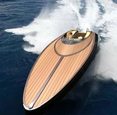 I love boats built for speed and lyxury! This one is sleek and retro modern