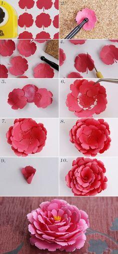 Como fazer dois tipos de flores de papel bonitas 1