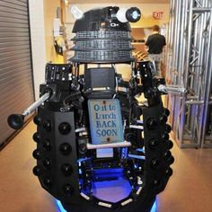 This Dalek is prepping up for tonight's Doctor Who episode.   Are you?  #DoctorWho