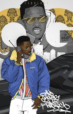 Great series of hip hop-inspired illustrations by French artist Souliers Maxime, aka WHIP. More illustrations View his portfolio
