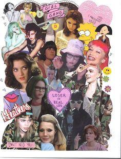 collage a girl gang of white girls - Collages, Love Collage, Collage Art, Heart Collage, Riot Grrrl, 90s Kids, Girl Gang, White Girls, Girl Power