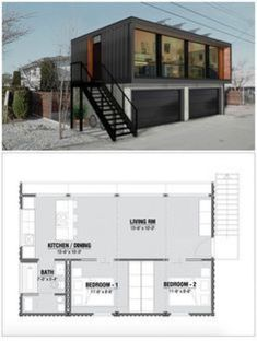 Prefab Shipping Container Homes, Sea Container Homes, Shipping Container Home Designs, Building A Container Home, Storage Container Homes, Container Buildings, Container Architecture, Container Shop, Cheap Shipping Containers