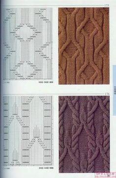 "Photo from album узоров спицами"" on Yandex. Aran Knitting Patterns, Lace Knitting, Crochet Shawl, Knitting Stitches, Knit Patterns, Stitch Patterns, Knit Crochet, Cable Chart, Cable Knit"