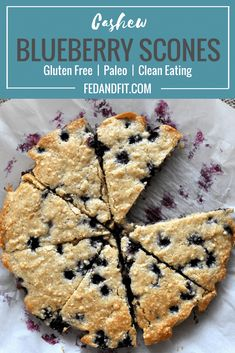 These Paleo Blueberry Scones are a healthier scone option that is free of gluten grains and refined sugar! Made with cashews arrowroot starch coconut oil and maple syrup this scone recipe is a hit! Blueberry Scones Recipe, Gluten Free Blueberry, Blueberry Recipes Paleo, Healthy Living Recipes, Gourmet Recipes, Paleo Recipes, Paleo Dessert, Dessert Recipes, Desserts
