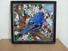 Micro mosaic using stained glass