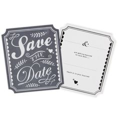 Chalk save the date cards - Wedding Stationery at Paperchase