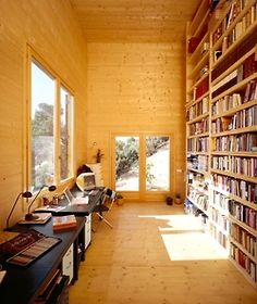 I love everything about this from the gorgeous sunlight to the huge shelves.