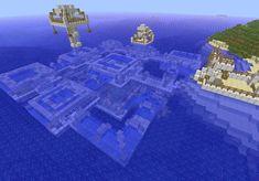 Underwater House Minecraft Project Minecraft Ideas, Minecraft Stuff, Cool Minecraft Creations, Minecraft Mansion, Cool Minecraft Houses, Minecraft Houses Blueprints, Minecraft House Designs, Minecraft Castle, Amazing Minecraft