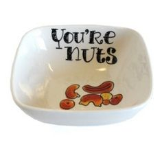 Blond Amsterdam - Kom vierkant - You're nuts Diy Mugs, Blond Amsterdam, Sharpie, Hand Painted, Cool Stuff, Crafts, Shop, Painting, Painted Porcelain