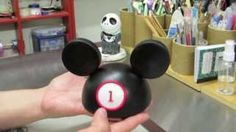 how to make a mickey mouse hat out of fondant - YouTube