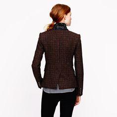 J.Crew Schoolboy blazer in beaded tweed
