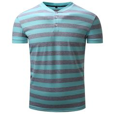Sale 16% (19.32$) - Summer Casual Men\'s Contrast Color Striped POLO Shirts Stand Collar Soft Cotton T-shirt