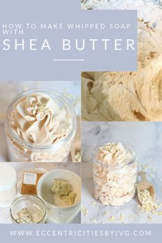 Learn how to make Shea Butter and Colloidal Oats Whipped Soap in this easy DIY. In just a few minutes you will have a wonderful and super skin loving whipped soap filled with great moisturizing properties coming from the shea butter and soothing with the colloidal oats. This whipped soap is super easy to make and a great gift idea for friends and family. This shea butter and colloidal oats whipped soap is colored in a lovely peach color that just goes perfectly well with the fragrance. Diy Body Butter, Shea Butter, Soap Colorants, Soap Tutorial, Whipped Soap, Soap Base, Vitamin E Oil, Milk And Honey, Soap Making