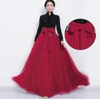 Creo que Emei Women Bowknot Waist Maxi Dress Empire Skirt Party Cocktail Dress Mesh Big Swing Tiered Chiffon Dress te gustará. Agrégalo a tu lista de deseos   http://www.wish.com/c/5456f7765f313f0760ef29d8