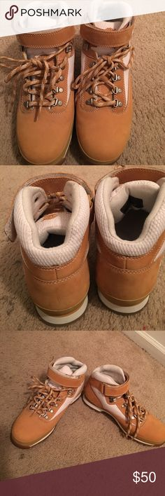 Timberland Boots They are not in the original box. They are in very good condition. Timberland Shoes Boots