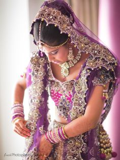 Beautiful Purple and Pink Embellished Lengha Choli