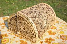 "HANDMADE Plate Bread BIRCH BARK Bread Basket /""Strawberries/"" Russian"