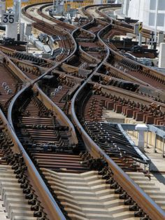 Train Tracks Switches  http://500px.com/photo/8668551 #RailSpaghetti