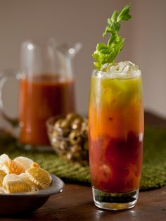 Delight guests with a non-alcoholic Bloody Mary bar at your next party. Set out pitchers of carrot juice, tomato Mary mix and cucumber water; let guests layer and mix their own drinks. Be sure to put out a bottle of hot sauce and extra lemon wedges for your friends who like it tart and spicy.