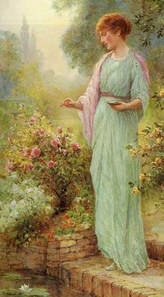 ⊰ Posing with Posies ⊱ paintings of women and flowers - Earnest Walbourn