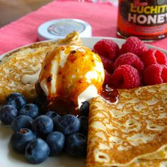 Simple but delicious idea for #pancakes with Gran Luchito smoked #chilli #honey.