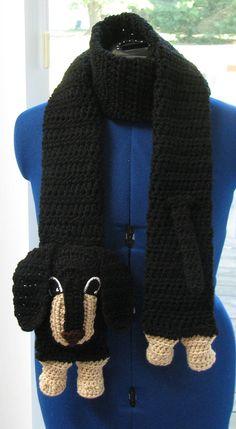 027f58464b9 Dachshund Dog Scarf Crochet Pattern In USA by DonnasCrochetDesigns Scarf  Sale