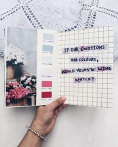 If our emotions had colors, would yours & mine match? // art journal entry from Noor Unnahar Bullet Journal Art, Wreck This Journal, My Journal, Bullet Journal Inspiration, Journal Pages, Journal Ideas Tumblr, Poetry Journal, Journal Prompts, Kunstjournal Inspiration