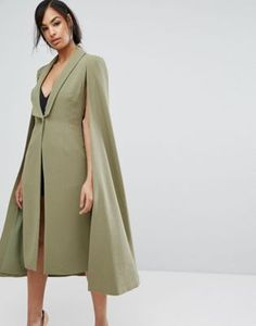 Lavish Alice Midi Tailored Cape Blazer