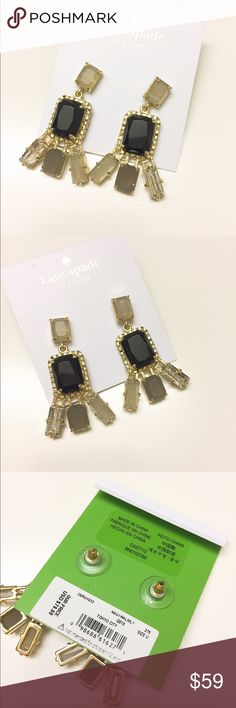 NWT Kate Spade beautiful earrings Brand new with tag!!! Never worn or used. No dust bag.  Shining and pretty. ❌no trade❌no lowballing offers!!! kate spade Jewelry Earrings